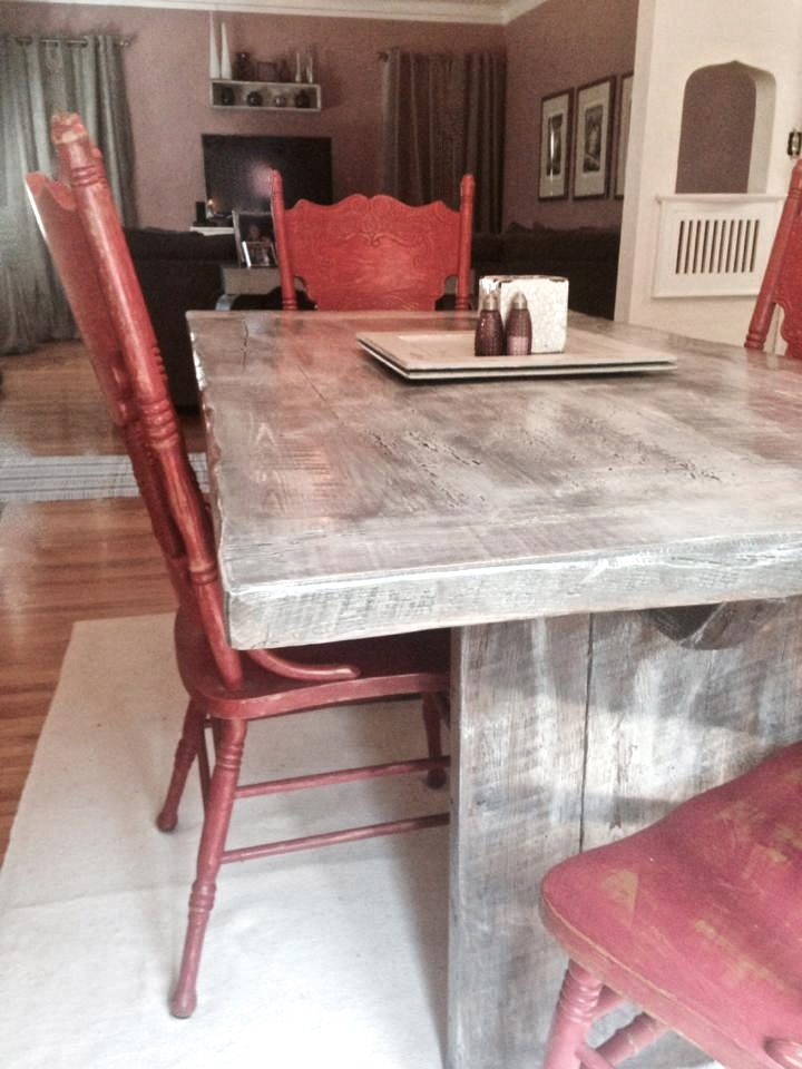 Reclaimed Wood Trestle Dining Room Tables